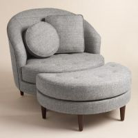 Gray Round Seren Chair and a Half | Receptions, Furniture ...