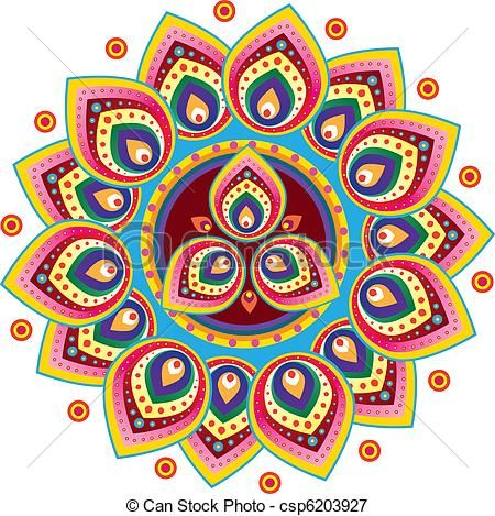 Vector Indian Pattern stock illustration royalty free