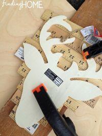 DIY Art -Yardstick Deer Silhouette | Deer silhouette, The ...