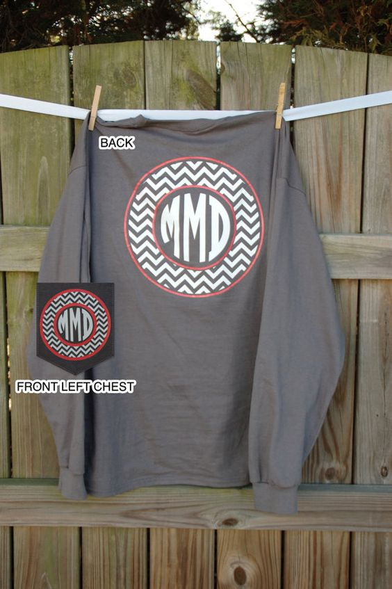 monogrammed pocket shirts
