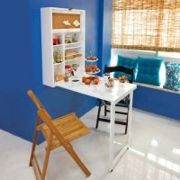 SoBuy Wall-mounted Drop-leaf Table, Folding Kitchen ...