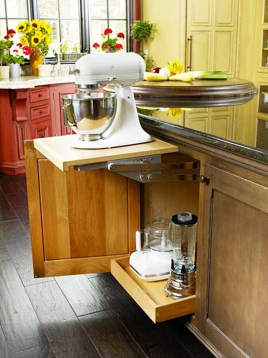 Kitchen Aid Mixer Design And Cabinets On Pinterest