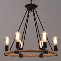 108 Ferand 6 Heads Edison Bulbs Chandelier Industrial ...