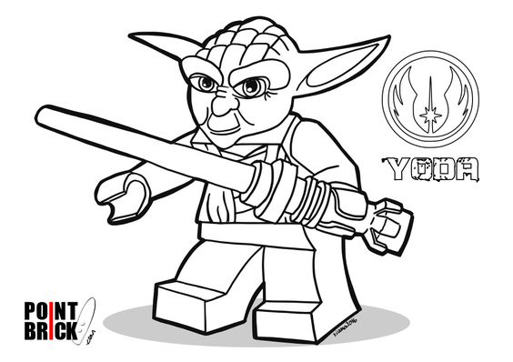 Lego Star Wars Yoda Chronicles Sketch Coloring Page Auto