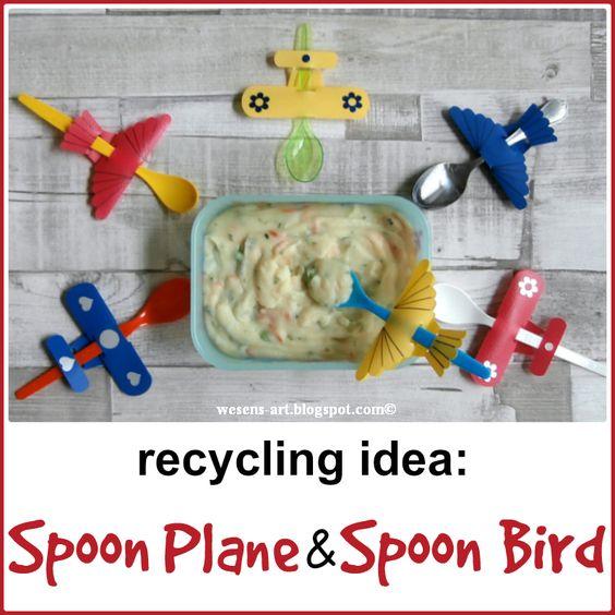 recycling idea: Spoon Plane & Spoon Bird: