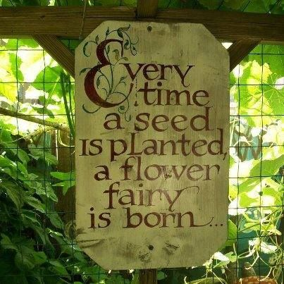 Every time a seed is planted, a flower fairy is born.: