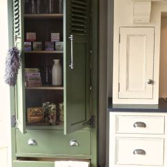 Free Standing Kitchen Larder Cupboards White Island With Butcher Block Top Love This Practical Kitchen/pantry Cupboard ...