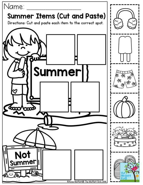 Cut and paste, Activities and Preschool activities on