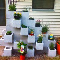 Cinder block garden step 2 | Gardening | Pinterest ...
