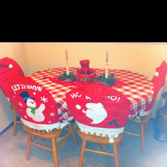 christmas chair covers pinterest henriksdal for sale holiday chairs