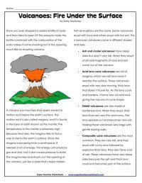 All Worksheets  Volcano Worksheets - Printable Worksheets ...