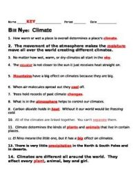 Bill Nye Climate Worksheet Free Worksheets Library ...