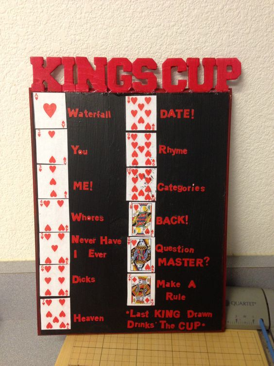 Kings cup rules  Drinking game Fun times  Camping