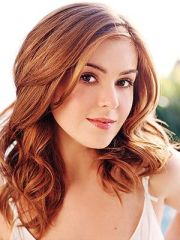 dark eyes red hair and isla fisher