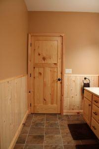 Interior Doors   knotty pine craftsman style bathroom door ...