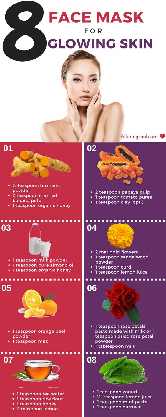 Homemade Face Pack For Glowing Skin - Get glowing skin by applying Banana, Turmeric, rose petal, sandalwood, tea water etc. Check out these simple and easy face pack for glowing skin.: