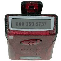 "A colorful pager that is clear!! If you had one of these back in the day you were considered ""cool""!:"