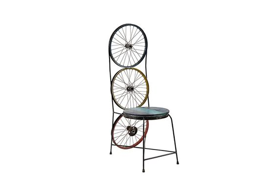 ID66435 / Bicycle Wheel Back Dining Chair, Assorted
