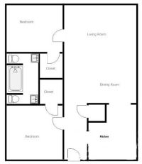 simple 2 bedroom house plans - Google Search | house plans ...