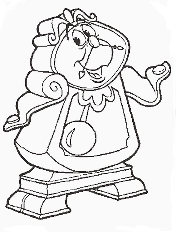Disney coloring pages, Beauty and the beast and The beast