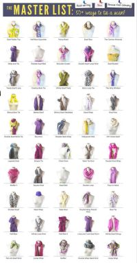 Scarf Knot Library Master List from Scarves.net Includes ...