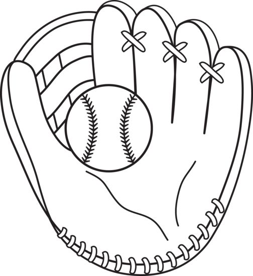 Baseball Coloring Page to use with