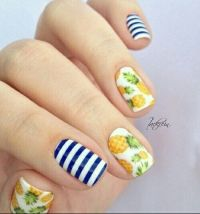 Nail art, Pineapple nails and Art on Pinterest