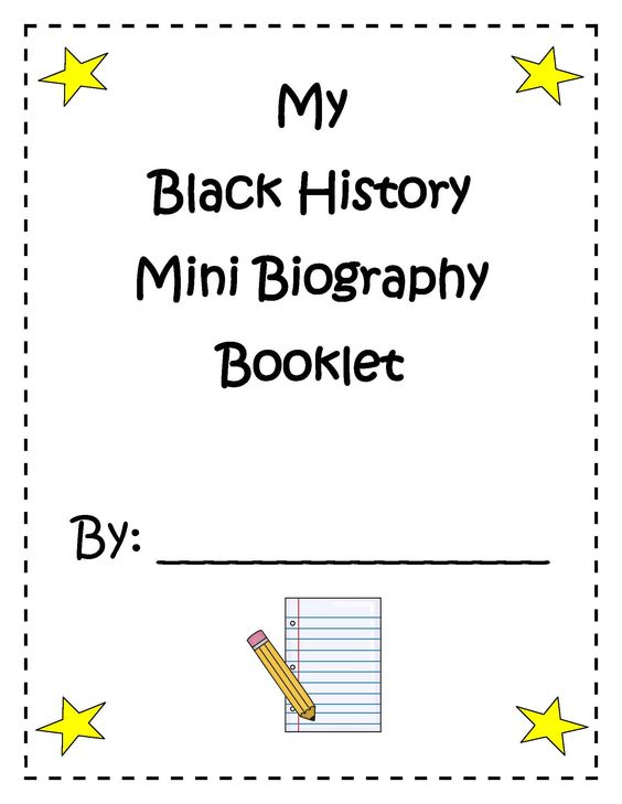 Social Studies :: My Black History Mini Biography Booklet