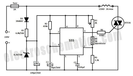 Temperature Controller Circuit Schematic, temperature