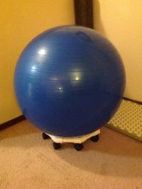 Ball chair, Exercise ball and Exercise on Pinterest