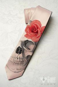 Men's gothic wedding necktie. Dia de los muertos by ...