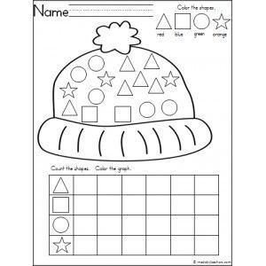 *Free Kindergarten winter shape practice with this