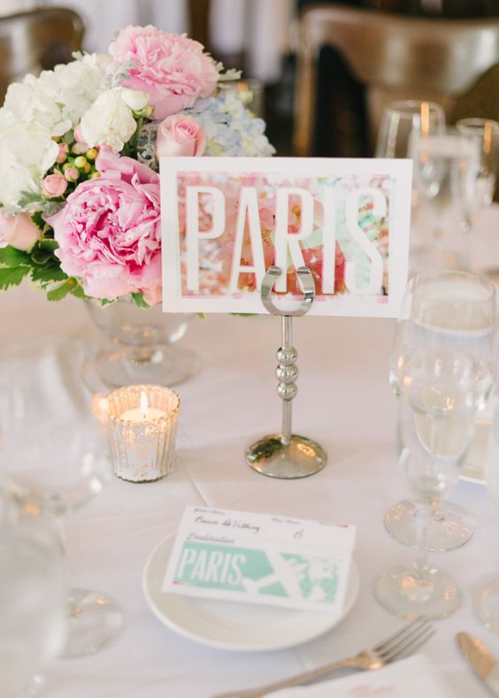 Air Travel Themed Reception Place Cards | photography by…: