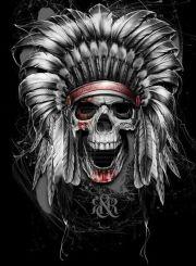 screaming cheif skull tattoo