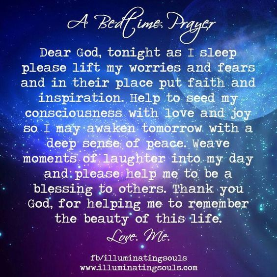 Bedtime Prayer   Affirming
