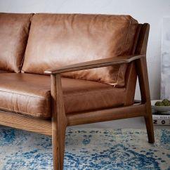 Sofa Wood Frame Exposed Uk Chair Bed Ikea Mathias Mid-century Leather (82.5
