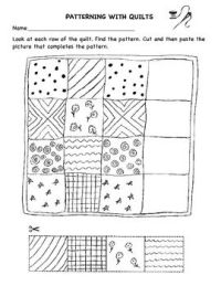 Patterning With Quilts worksheet | Preschool Quilt ...