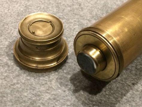 Georgian era brass telescope with guillotine style shutters. ca