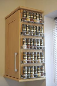 Beside the Cabinet Wall Mounted Spice Rack with Wire ...