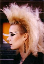 80s goth punk and makeup