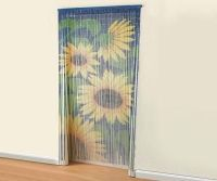 Bamboo sunflower door beaded curtain insects fly screen ...