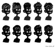cartoon boy hairstyle art