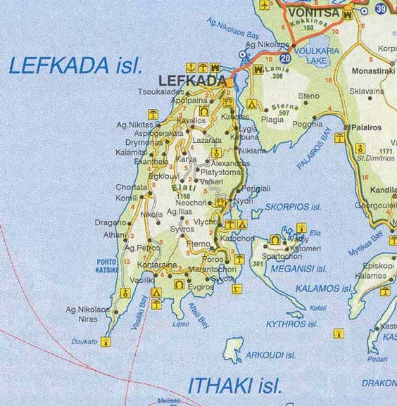 lefkada greece map  holidays to suit your personal