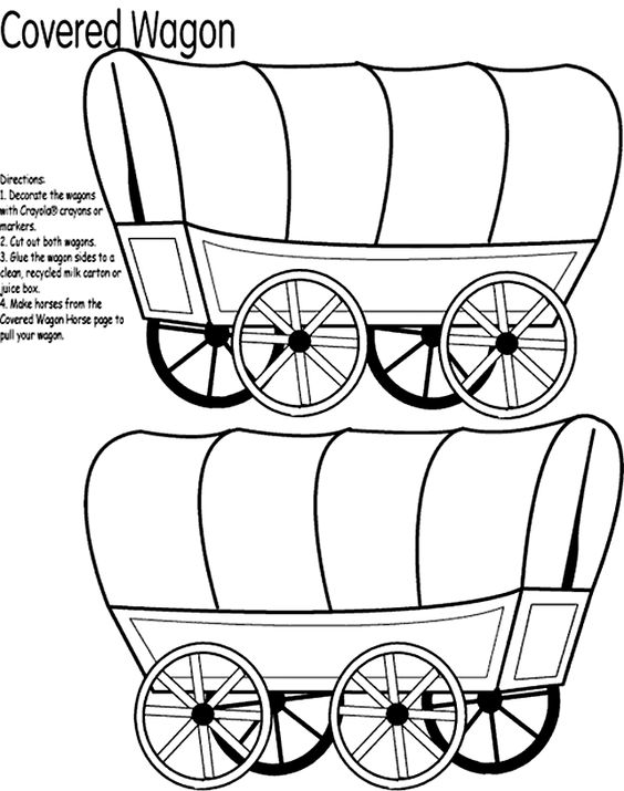 Wagon Wheel Coloring Coloring Pages