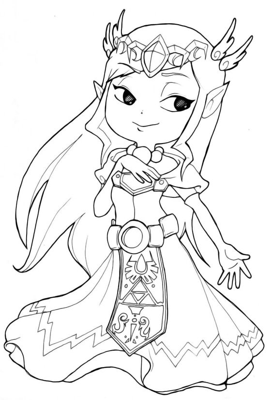 zelda coloring pages  classic video game party