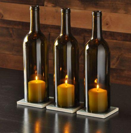 Centres de support bougie bouteille de vin by MoonshineLamp on Etsy