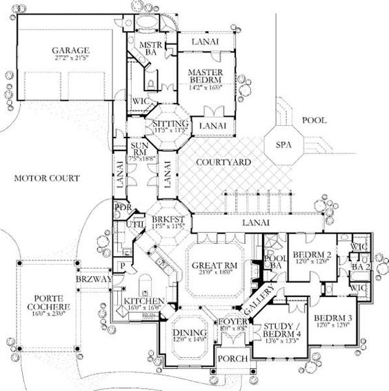 House plans, The courtyard and Nooks on Pinterest