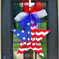 Fourth of July Door Hanger, 4th of July Wreath, Patriotic