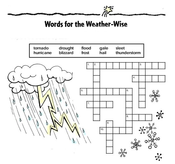 Words for the Weather-Wise: This activity will reinforce