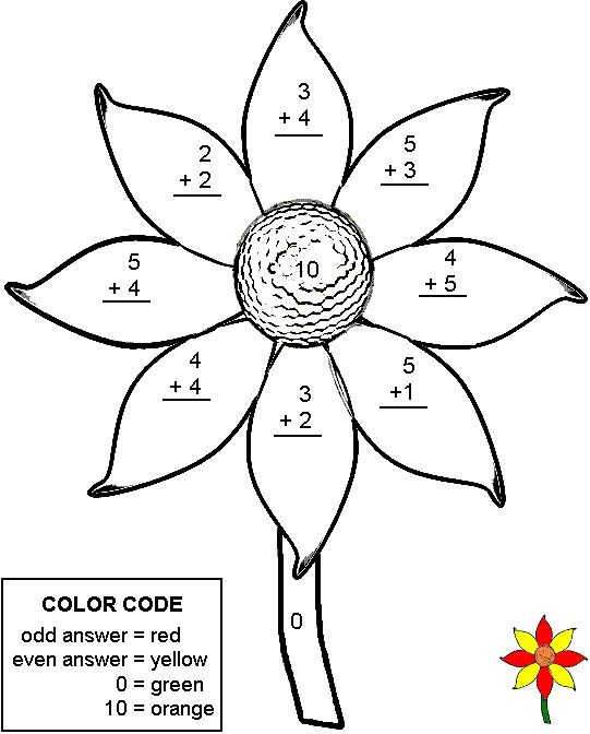 Colors, Addition worksheets and Math on Pinterest